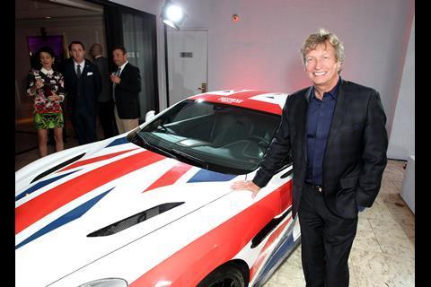 Nigel Lythgoe admires an Aston Martin